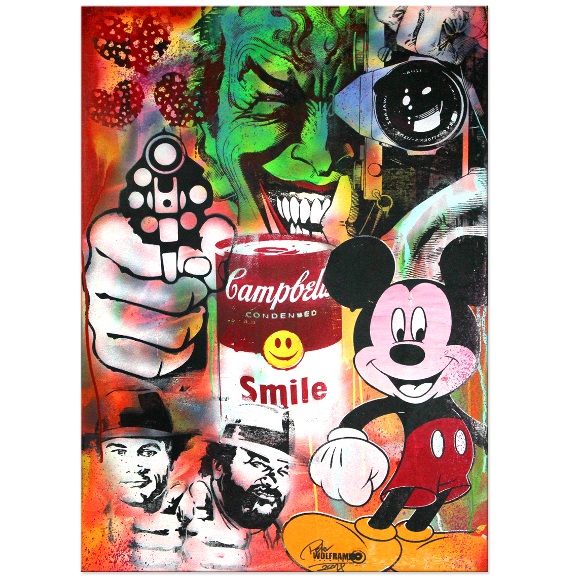 "Pop Art Kunst von Peter Wolframm ""Smile"""